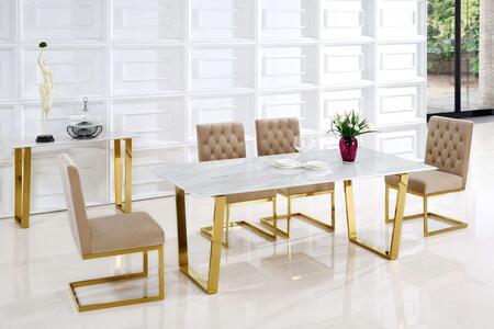 Meridian MER5PCRECDH4BEKIT3 Cameron Dining Room Sets
