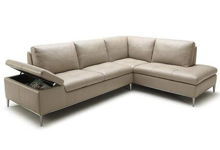 VIG Furniture VGKK1788TAUPEMM Divani Casa Gardenia Series Sofa and Chaise Sofa