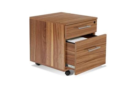 "Unique Furniture 100 Collection 20"" Mobile Pedestal Filing Cabinet with 2 Drawers, Non Scratch Surface, Central Locking System, Legal and Letter Size Filing in"