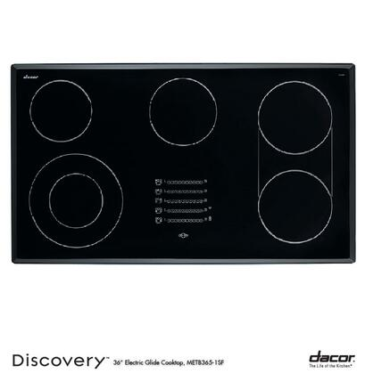 """Dacor METB3651SF 36"""" Discovery Series 5 Element Electric Cooktop, in Black"""