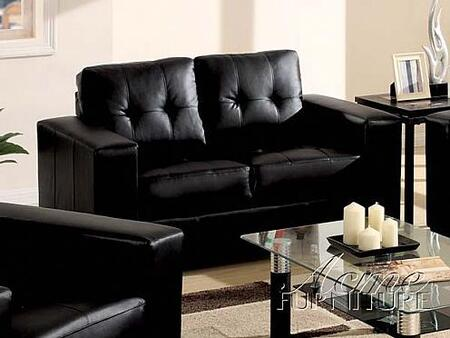 Acme Furniture 15006A Crystal Series Bonded Leather  with Wood Frame Loveseat