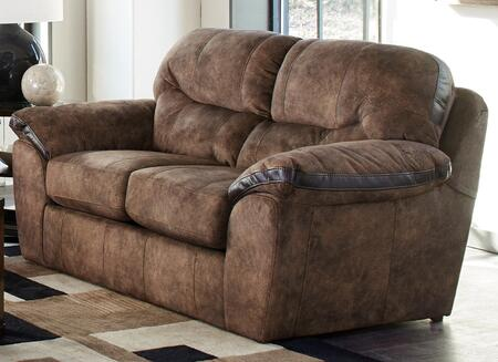 """Jackson Furniture Atlee Collection 4431-02- 75"""" Loveseat with Split Back, Decorative Contrast Bands and Pillow Top Arms in"""