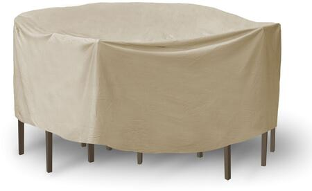 "PCI by Adco 92"" x 30"" Round Table and Chair Set Covers with UV Treated, Secured Velcro Ties and Heavy Duty Vinyl Fabric in"