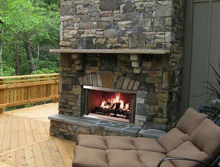 Majestic MONTANAXX Montana Outdoor Wood Burning Fireplace with Traditional Full Refractory Lining and Dual Gas Knockouts, Up to 61,000 BTUs, UL/ULC Listed