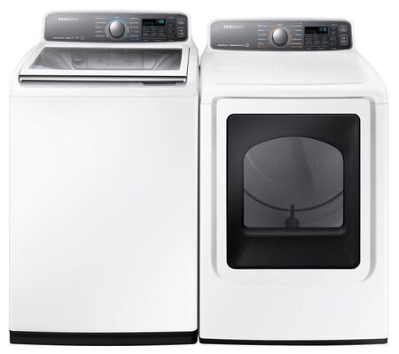 Samsung Appliance WA48J7700AWPAIR1 Washer and Dryer Combos