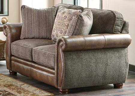 """Jackson Furniture Pennington Collection 4439-02- 67"""" Loveseat with Chenille Fabric Upholstery, Bun Feet and Nail Head Accents in"""