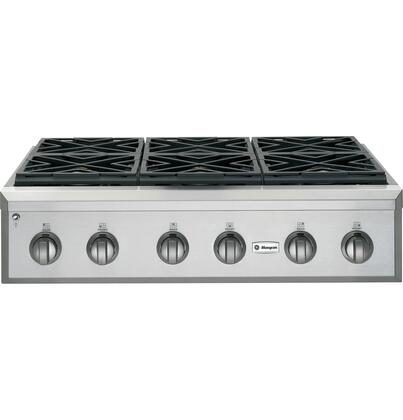 GE Monogram ZGU366LPSS  Liquid Propane Sealed Burner Style Cooktop, in Stainless Steel