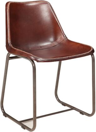 Donny Osmond Home 180227 Antonelli Series Transitional Leather Metal Frame Dining Room Chair