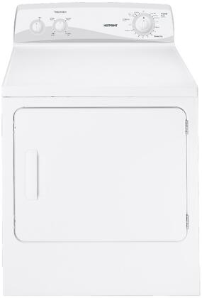 """Hotpoint HTDP120XDWW 27"""" Wide 6.8 cu. ft. Capacity Front-Load X Dryer, 6 Dry Cycles, DuraDrum Interior, 4 Heat Selections, Reverse-a-Door, Upfront Lint Filter: White"""