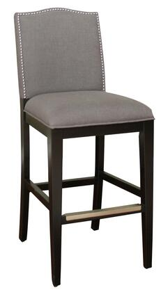 American Heritage 134893BLKSMK Chase Series Residential Fabric Upholstered Bar Stool