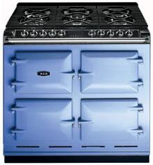 AGA A64LPGSIWWB  Dual Fuel Freestanding Range with Sealed Burner Cooktop, 4.5 cu. ft. Primary Oven Capacity, in Wedgwood Blue