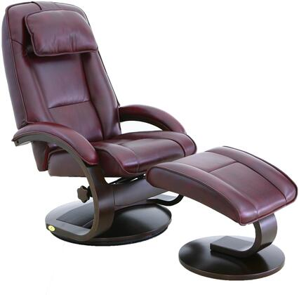 Mac Motion 52LO309625 Oslo Series Transitional Leather Wood and Metal Frame  Recliners