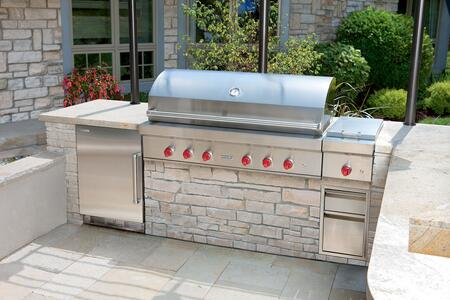 Wolf OG54 54 Inch Stainless Steel Built-In Grill