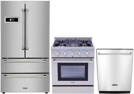 Thor Kitchen 826375 4 Piece Stainless Steel Kitchen Appliances Package