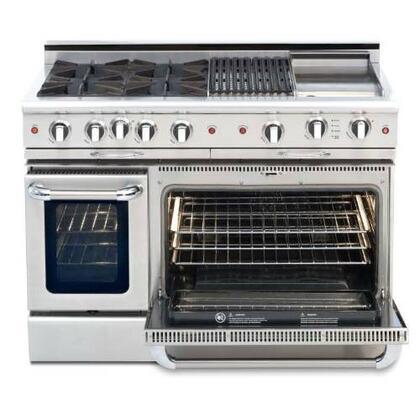 "Capital CSGR484G2L 48"" Culinarian Series Gas Freestanding"