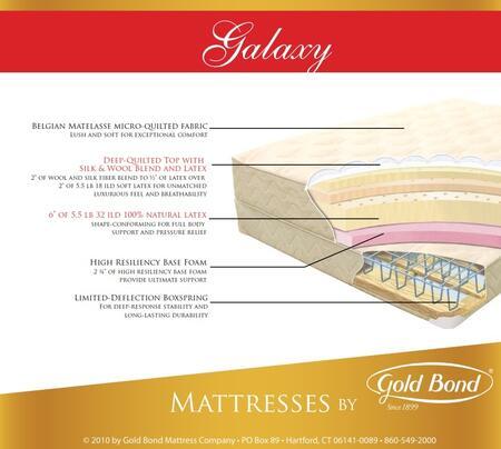 "Gold Bond 869 Natural Latex Series 14.5"" High X Size Galaxy Mattress"