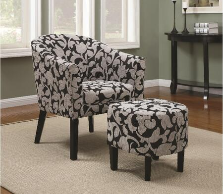 Coaster 902062 Accent Seating Series Fabric Wood Frame Accent Chair