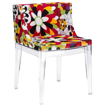 EdgeMod EM150CLR Flower Series Contemporary Fabric Plastic Frame Dining Room Chair