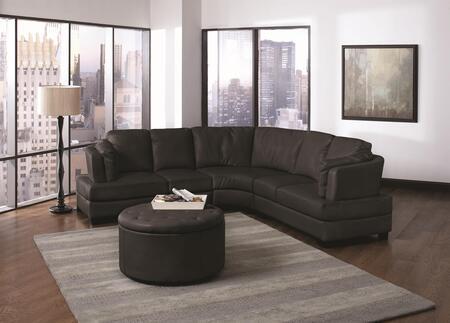 Coaster 503106  Curved Bonded Leather Sofa