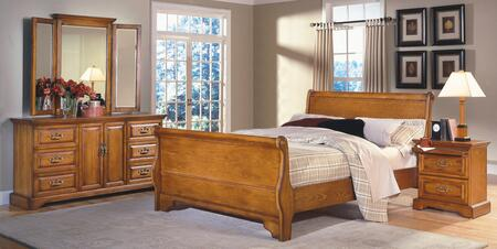 New Classic Home Furnishings 1133ESBDMN Honey Creek King Bed