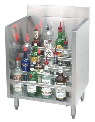 Advance Tabco CRLR Liquor Bottle Display Cabinet with Adjustable Bullet Feet in Stainless Steel