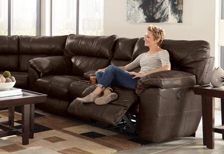 Catnapper 4349128309308309128329 Milan Series Leather Reclining with Metal Frame Loveseat