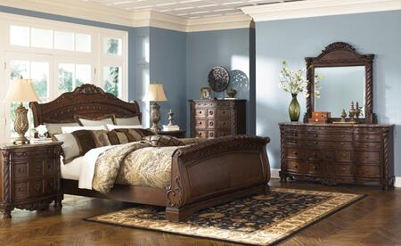 Milo Italia BR607KSLBDM Matthews King Bedroom Sets