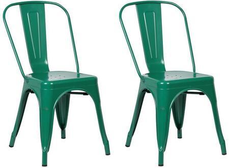 EdgeMod EM112DGRNX2 Trattoria Series Modern Metal Frame Dining Room Chair