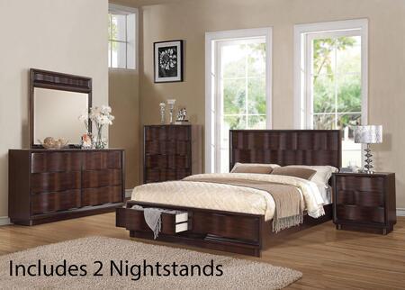 Acme Furniture 20517EK6PCSET Travell King Bedroom Sets