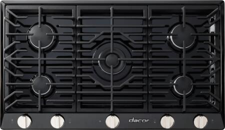 "Dacor RNCT365G 36"" Renaissance Gas Cooktop with 5 Sealed Burners, Die Cast Knobs, Perma-Flame Technology, Continuous Grates, and Smart Flame Technology:"
