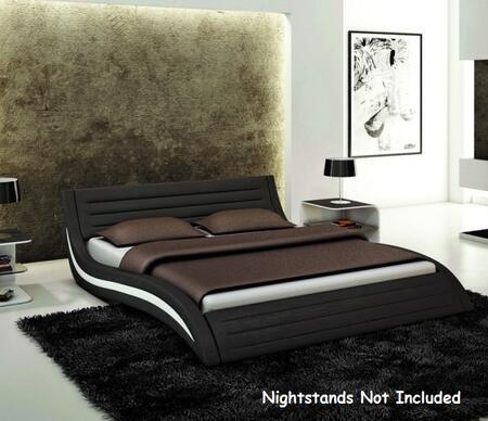 VIG Furniture VGEVBJ213B Modrest Apollo Platform Bed with Leatherette Upholstery in