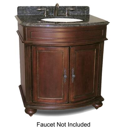 "Kaco Arlington Collection 5300-3000 30"" Vanity with 2 Doors, Bun Feet and Decorative Moldings in Distressed Cherry Finish"