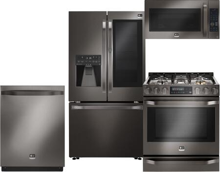 LG Studio 710742 Black Stainless Steel Kitchen Appliance Pac