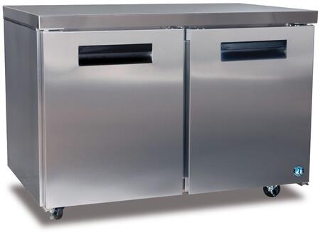 "Hoshizaki CRMF48x 48"" Commercial Undercounter Freezer with 13.66 cu. ft. Capacity, Stainless Steel Exterior, 2 Epoxy Coated Shelves, Stepped Door Design, and Field Reversible Doors, in Stainless Steel"
