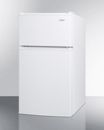 """Summit CP351WLLx 20"""" Top Freezer Compact Refrigerator with 2.9 cu. ft. Capacity, Energy Star, 2 Side Mounted Locks, Door Storage and Adjustable Thermostat, in White"""