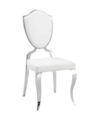 Chintaly LXXSCWHT White Back Cabriole Designed Legs Chair