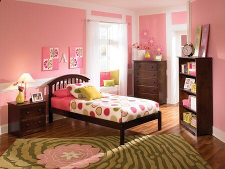 Atlantic Furniture SRICHMONDOFTWINCL Richmond Series  Twin Size Bed