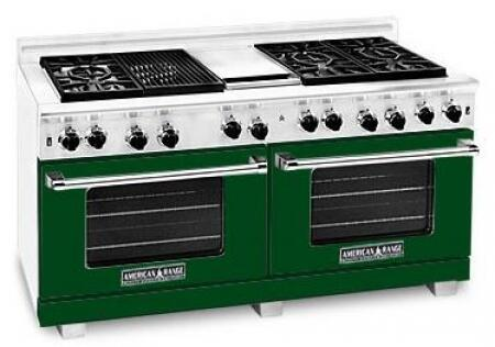 American Range ARR6062GDLFG Heritage Classic Series Liquid Propane Freestanding Range with Sealed Burner Cooktop, 4.8 cu. ft. Primary Oven Capacity, in Green