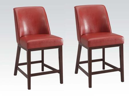 Acme Furniture 96357 Valor Series Residential Bycast Leather Upholstered Bar Stool