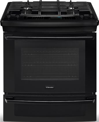 "Electrolux EI30DS55LB 30"" IQ-Touch Series Slide-in Dual Fuel Range with Sealed Burner Cooktop, 4.2 cu. ft. Primary Oven Capacity, Warming in Black"
