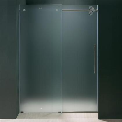 "Vigo VG6041XXMT7274R 72"" Frameless Shower Door 3/8"" Frosted Glass with X Right Hardware"