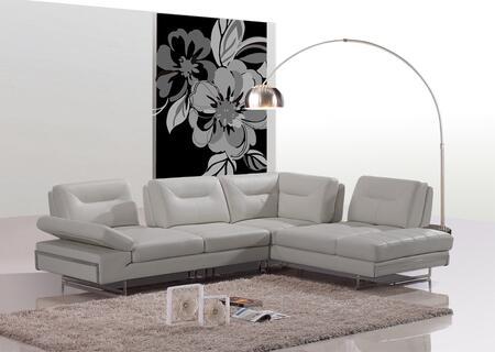 VIG Furniture VGEV969A Divani Casa Carmel Series Sofa and Chaise Leather Sofa