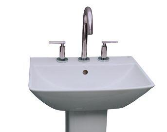 """Barclay B/3-76WH Summit 500 Basin Only, with Pre-drilled Faucet Holes, Overflow, 5.75"""" Basin Depth, and Vitreous China Construction, in White"""