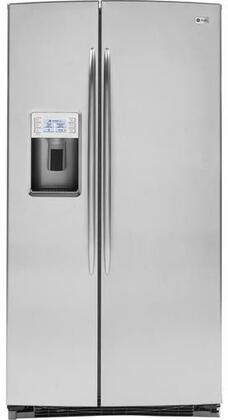 GE PSHS6YGZSS  Side by Side Refrigerator with 25.6 cu. ft. Capacity in Stainless Steel