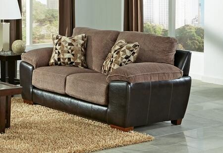 "Jackson Furniture Pinson Collection 4398-02- 79"" Loveseat with Block Feet, Pillow Top Arms and Two Throw Pillows in"