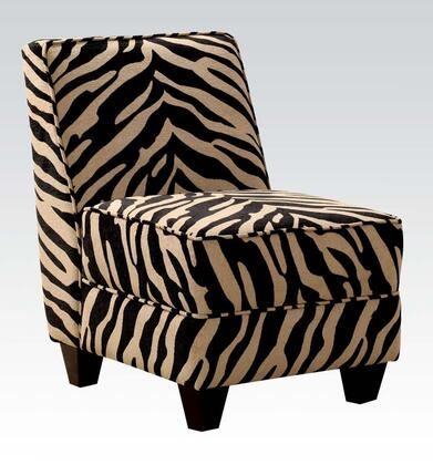 Acme Furniture 10070 Makala Series Armless Fabric Wood Frame Accent Chair |Appliances Connection