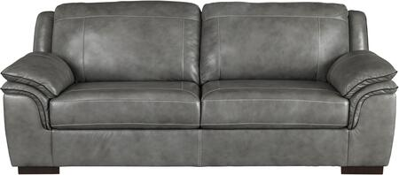 Signature Design by Ashley 1520238 Islebrook Series Stationary Leather Sofa