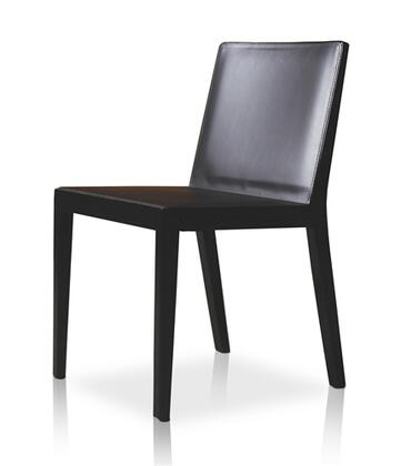 Modloft CDS13000T4C4 Frith Series Modern Leather Wood Frame Dining Room Chair