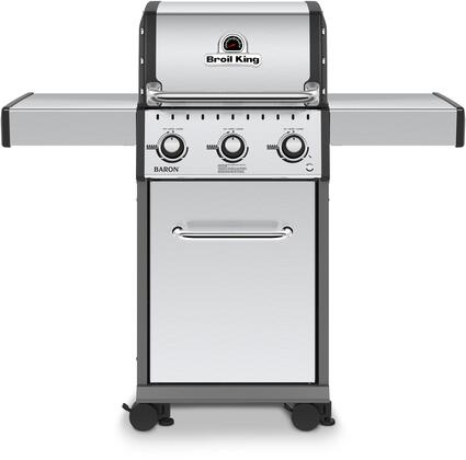 """Broil King 921x5x 24"""" Baron 320 Series With 3 Burners, 440 sq. in. Cooking Space, 30000 BTU Main Burner and Steel Flav-R-Wave Cooking System, in x"""