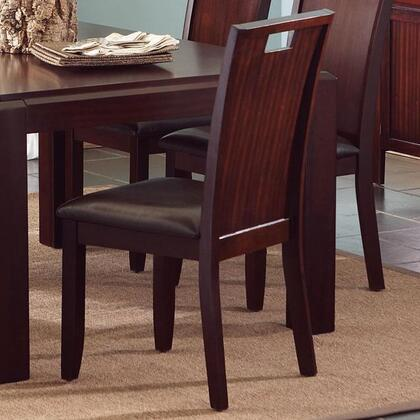 Coaster 102942 Prewitt Series Contemporary Vinyl Wood Frame Dining Room Chair